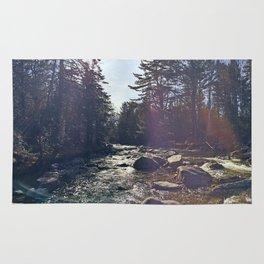 Sunshine on the Carrabassett River near Sugarloaf Mountain, Maine (2) Rug