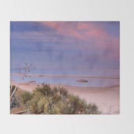 """Tarifa"". Atlantic Ocean beach Throw Blanket"