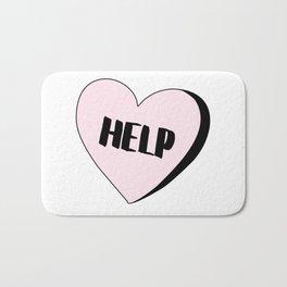 Help Candy Heart Bath Mat