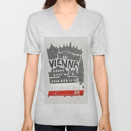 Vienna City Print Unisex V-Neck