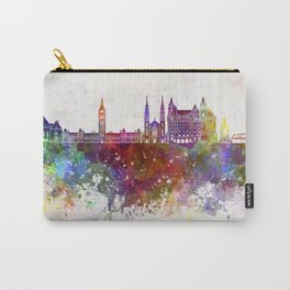 Ottawa V2 skyline in watercolor background Carry-All Pouch