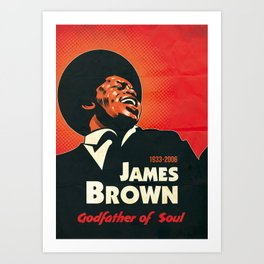 James Brown 2 Art Print