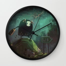 """Midboss Running Late"" Wall Clock"
