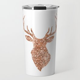 Sparkling reindeer blush gold Travel Mug