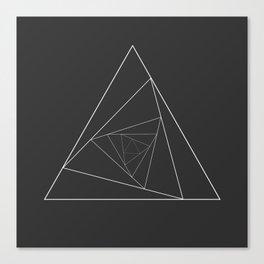Triangle Spiral Geometric Minimalist Syndrome Canvas Print