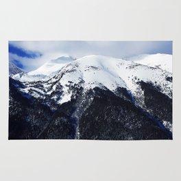 Snow cowered peaks Rug