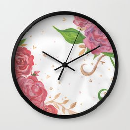 Lovely Roses Wall Clock