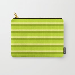 Lime Green Stripes Carry-All Pouch