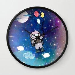 Cute Lil' Space Man - Illustration Wall Clock