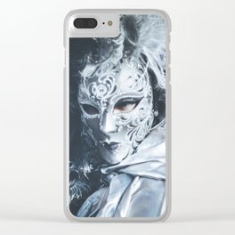 Carnival mask in Venice Clear iPhone Case