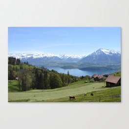 Lake Thun Bernese Oberland Switzerland Canvas Print