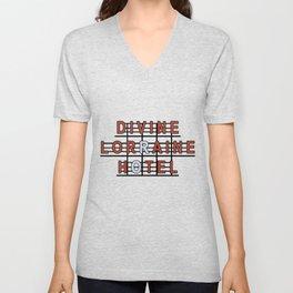 Divine Lorraine Hotel Unisex V-Neck