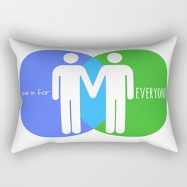 Love Is For Everyone - Him & Him Rectangular Pillow