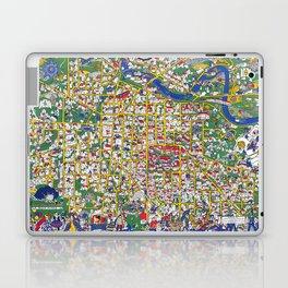 ANN ARBOR University map MICHIGAN dorm Laptop & iPad Skin