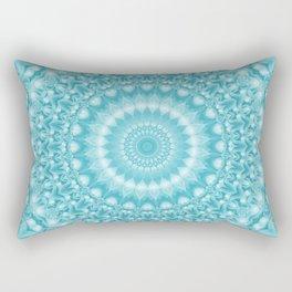 Caribbean Blue Mandala Rectangular Pillow