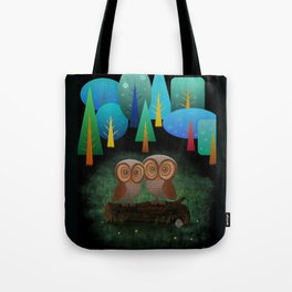 Owl Pals In The Forest Tote Bag