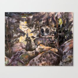 A Quiet Walk in the Woods Canvas Print