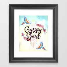 Tribal Boho Gypsy Soul Framed Art Print