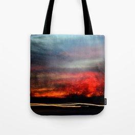Night Lights Moving Sunset 2 Tote Bag