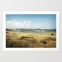 Hawaiian Beach Landscape print Art Print
