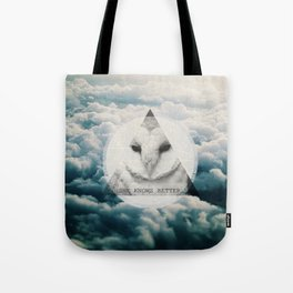 -She Knows Better Tote Bag