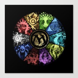 Magic the Gathering - Faded Guild Wheel Canvas Print
