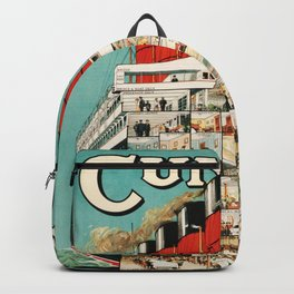 Vintage Cruise Travel Poster Backpack