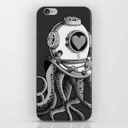 I'm falling in love with you? (Black and white) iPhone Skin