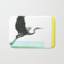 Great Blue Heron Bath Mat