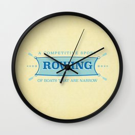 A Competitive Sport. Wall Clock