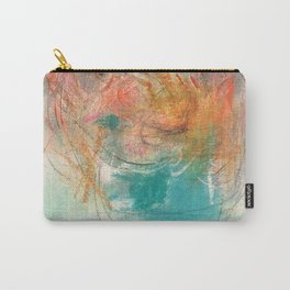 Naive - Abstract painting mixed media - luminous Carry-All Pouch