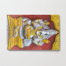Indian Temple Elephant Metal Print
