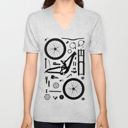 Downhill Bike Parts Unisex V-Neck