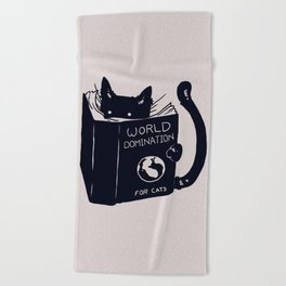 World Domination For Cats Beach Towel