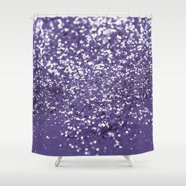 Sparkling ULTRA VIOLET Lady Glitter #1 #shiny #decor #art #society6 Shower Curtain