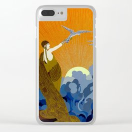 """""""Wings of Victory"""" Art Deco Design Clear iPhone Case"""