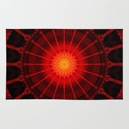 Mandala red heat Rug