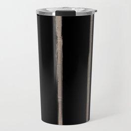 Skinny Strokes Gapped Vertical Nude on Black Travel Mug