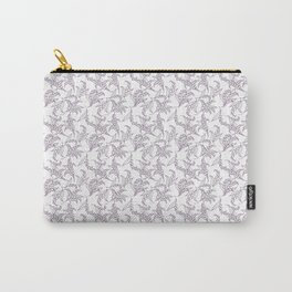 Mauve Vintage-Style Lily-of-the-Valley Pattern Carry-All Pouch
