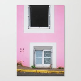 50. The Pink Wall, Bretagne, France Canvas Print