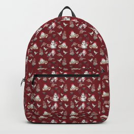 Red Gnome Pattern - Christmas Backpack