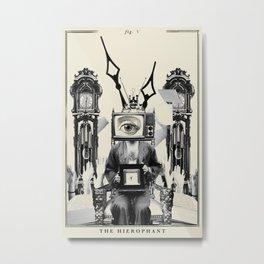 Fig. V - The Hierophant Metal Print