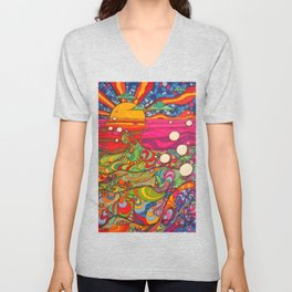 Psychedelic Art Unisex V-Neck