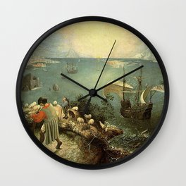 Landscape with the Fall of Icarus - Pieter Bruegel Wall Clock