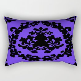 Victorian Damask Purple and Black Rectangular Pillow