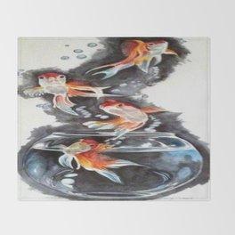 Flying Fish Throw Blanket