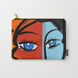 Red Blue Pop Girl Portrait Expressionist Art Carry-All Pouch