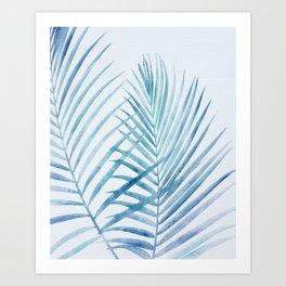 Coastal Palms Watercolor Art Print