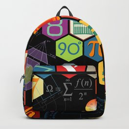 Math in color Black B Backpack