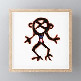 PUERTO RICO Taino Symbols Framed Mini Art Print